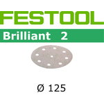 Lihvkettad BRILLIANT 2 / STF D125 / P80 / 50tk, Festool