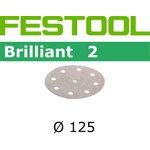 Lihvkettad BRILLIANT 2 / STF D125 / P120 / 100tk, Festool