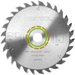 Saw blade 260x2,5x30, W60, -5°. Wood, soft plastic, gypsum, Festool
