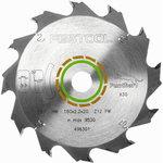 Diskas pjūklui HW 160x2,2x20, PW12, 20°. Wood, soft platic, Festool