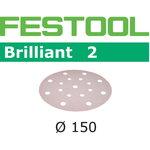 Sanding paper BRILLIANT 2 / STF D150/ P180 / 10pcs, Festool