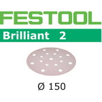 Šlif.popierius Brill/2 STF D150/16 P150 BR2/100 1 vnt., Festool