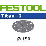 Šlifavimo  diskas TITAN 2 STF D150/16 / P400 / 100vnt, Festool