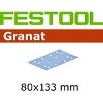 Šlif. popierius Granat STF 80x133mm P60, FESTOOL