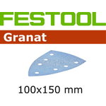 Šlifavimo popierius  GRANAT / Delta 100x150/7 / P80 / 50vnt, Festool
