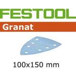 Šlif.popierius GRANAT / DELTA 100x150/7 / P220. 100pcs, Festool