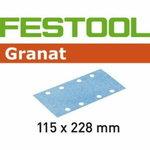 Lihvpaberid GRANAT / 115x228 / P80 / 50tk, Festool