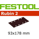 Šlif. popierius rubin STF 93x178/8, P100, RU2/50pcs, Festool