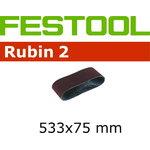 Sanding belt L533X 75-P80 RU2/10, FESTOOL