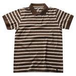 Cumana polo marškinėliai rudi su baltomis juostomis XL, Mascot