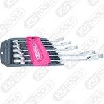 Kombinuotų terkšlinių raktų komplektas  8-19mm 5-vnt DUOGEAR, KS tools