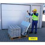 Reguliuojamas vežimėlis trinkelių pervežimui VTK-V, Probst
