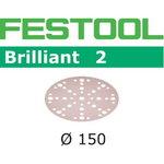 Lihvkettad BRILLIANT 2 / STF D150/48 / P320 / 10tk, Festool