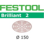 Lihvkettad BRILLIANT 2 / STF D150/48 / P120 / 100tk, Festool