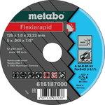 INOX lõikeketas 125x1,0x22 mm, A60R, Metabo