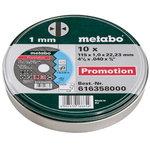 Rinkinys pjovimo diskų plienui 10 vnt  115x1,0x22 mm, Metabo