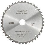 Pjovimo diskas 216x2,4/1,8x30, z30, WZ, 22°. Precision cut, Metabo