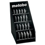 Rounded off bit, set 40 pcs.in a Display, Metabo