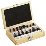 Carbide router bit set 15 pcs., METABO