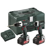 18V Combo set: Drill BS 18 LT + Screwdriver SSD, Metabo
