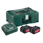 Basic set: 2 x 4.0 Ah + charger ASC 30-36 + Metaloc, Metabo