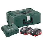 Akumulatora un lādētāja komplekts 2 x LiHD 5.5 Ah + Metaloc, Metabo