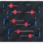 T-käepide, võtmete kompl 7-osa ERGOTORQUEplus, KS Tools