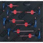 Raktų komplektas SCS ERGOTORQUEplus T-rankena TX , 7 vnt, KS tools
