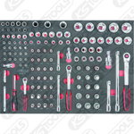 """padrun kmpl 1/4""""-3/8"""" ja 1/2"""", 1/1 moodulis CHROME, KS Tools"""