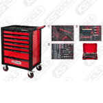 RACINGline  tool cabinet with 7 drawers + 341 pc tool set