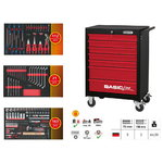 BASICline Tool Cabinet with STARTER insert package, KS Tools