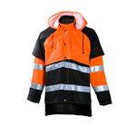 Lietaus švarkas miškininkui  858 oranžinis/juodas, Dimex