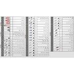 ECOline BLACK/RED įrankių spintelė su 7 stalčiais, KS tools