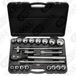 "3/4"" CLASSIC Bi hex socket set, 21pcs, Kstools"