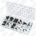 Headless screws assortment, 3x5mm-10x12mm, 160 pcs, KS tools