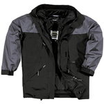 Winter work jacket Alaska Grey/Black 2XL, DELTAPLUS