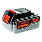 18V Lithium-ion 4.0Ah akumulators, Black+Decker