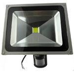 LED prožektor seinakinnituse ja PIR anduriga 50W IP54, SLED