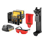 5 point laser DCE085LR, red lines, AA batteries, DeWalt