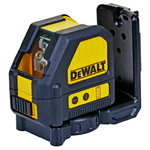 Cross line laser DCE088NR, 2 red lines, without battery/char, DeWalt