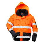 High visible winterjacket 2in1 with hood C465 navy/orange
