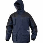 Žieminė striukė su gobtuvu Finnmark mėlyna/juoda L, Delta Plus