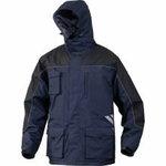 Žieminė striukė su gobtuvu Finnmark mėlyna/juoda XL, DELTAPLUS