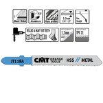 5 JIG SAW BLADES HSS 76x1.2x21TPI (METAL/STRAIGHT/FINE), CMT