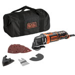 Multitool MT280BA + accessory set, Black+Decker