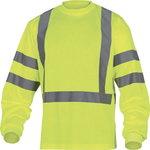 Marškinėliai ilgom  rankovėm Rudder, geltona 2XL, Delta Plus