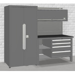 Workstation with closet 2,5M, Keen Space