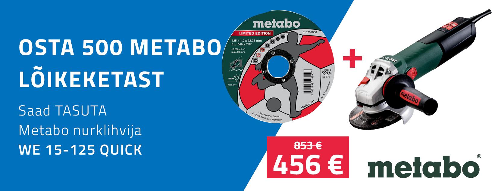 Metabo lõikekettad 500tk