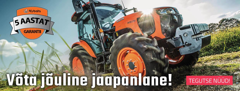 Kubota jõulised traktorid