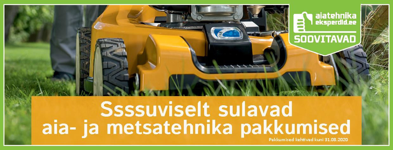 Suviselt sulavad metsa- ja aiatehnika pakkumised